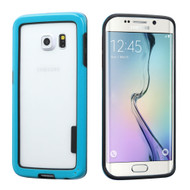 Snap-On Hybrid Bumper Case for Samsung Galaxy S6 Edge - Blue