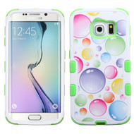 Military Grade Certified TUFF Image Hybrid Case for Samsung Galaxy S6 Edge - Rainbow Bubbles