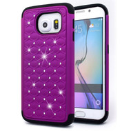 TotalDefense Diamond Hybrid Case for Samsung Galaxy S6 Edge - Purple