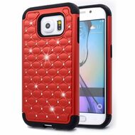 TotalDefense Diamond Hybrid Case for Samsung Galaxy S6 Edge - Red