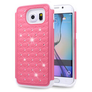 TotalDefense Diamond Hybrid Case for Samsung Galaxy S6 Edge - Pink White