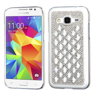 Desire Bling Bling Crystal Cover for Samsung Galaxy Core Prime / Prevail LTE - Diamond Silver