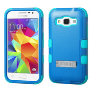 Military Grade Certified TUFF Hybrid Kickstand Armor for Samsung Galaxy Core Prime / Prevail LTE - Blue Teal