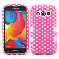 *Sale* Military Grade TUFF Image Hybrid Case for Samsung Galaxy Avant - Polka Dots Hot Pink