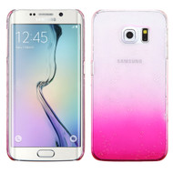 3D Water Drop Transparent Cover for Samsung Galaxy S6 Edge - Pink
