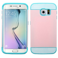 Credit Card Hybrid Case for Samsung Galaxy S6 Edge - Pink Teal