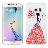 Snap-On Diamond Image Case for Samsung Galaxy S6 Edge - Butterfly Gown
