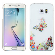 Snap-On Diamond Image Case for Samsung Galaxy S6 Edge - Butterfly
