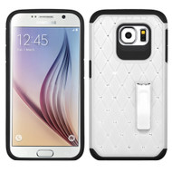 Luxurious Elite Dazzling Diamond Hybrid Case for Samsung Galaxy S6 - White