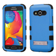 Military Grade TUFF Hybrid Kickstand Case for Samsung Galaxy Avant - Blue