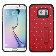 Luxurious Elite Dazzling Diamond Hybrid Case for Samsung Galaxy S6 Edge - Red