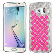 Desire Bling Bling Crystal Cover for Samsung Galaxy S6 Edge - Diamond Hot Pink