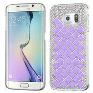 Desire Bling Bling Crystal Cover for Samsung Galaxy S6 Edge - Diamond Purple