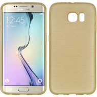 Rubberized Crystal Case for Samsung Galaxy S6 Edge - Silk Gold