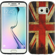 Graphic Rubberized Protective Gel Case for Samsung Galaxy S6 Edge - British