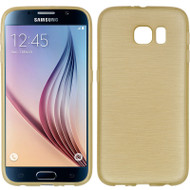 Rubberized Crystal Case for Samsung Galaxy S6 - Silk Gold
