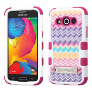 Military Grade TUFF Image Hybrid Kickstand Case for Samsung Galaxy Avant - Camo Wave