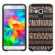 Hybrid Multi-Layer Armor Case for Samsung Galaxy Grand Prime - Leopard Zebra