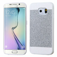 Glittering Candy Skin Cover for Samsung Galaxy S6 Edge - Silver