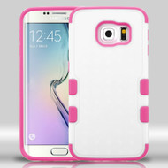 Military Grade Certified TUFF Merge Hybrid Case for Samsung Galaxy S6 Edge - White Hot Pink