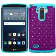 TotalDefense Diamond Hybrid Case for LG G Stylo / Vista 2 - Purple Teal
