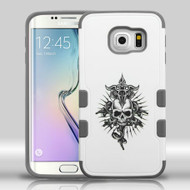 Military Grade Certified TUFF Merge Graphic Hybrid Case for Samsung Galaxy S6 Edge - Furious Skull