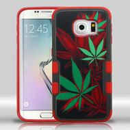 Military Grade Certified TUFF Merge Graphic Hybrid Case for Samsung Galaxy S6 Edge - Cannabis