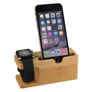 *SALE* Bamboo Desktop Charging Dock Stand for Apple Watch and Smartphone