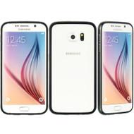 Aluminum Transparent Bumper Shield Case for Samsung Galaxy S6 - Black