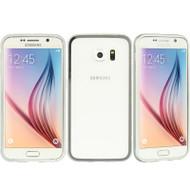 Aluminum Transparent Bumper Shield Case for Samsung Galaxy S6 - Silver