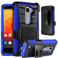 *SALE* Advanced Armor Hybrid Kickstand Case with Holster for LG Escape 2 / Logos / Spirit - Black Blue