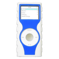 Tough Two-Tone Silicone Skin Cover for 2nd Generation iPod Nano - Blue