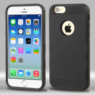 Military Grade Certified TUFF Trooper Dual Layer Hybrid Case for iPhone 6 / 6S - Black