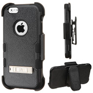 Military Grade Certified TUFF Hybrid Kickstand Case with Holster for iPhone 6 / 6S - Black