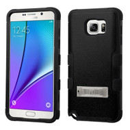 Military Grade Certified TUFF Hybrid Kickstand Case for Samsung Galaxy Note 5 - Black