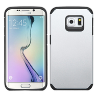 Hybrid Multi-Layer Armor Case for Samsung Galaxy S6 Edge Plus - Silver