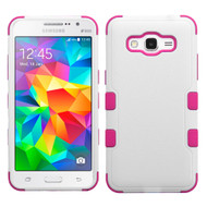 Military Grade Certified TUFF Hybrid Case for Samsung Galaxy Grand Prime - White Hot Pink