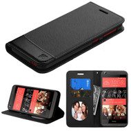 Premium Leather Wallet Book Case for HTC Desire 650 / 626 / 555 / 550 / 530 - Black
