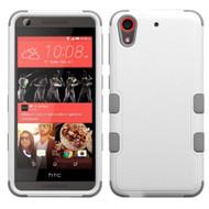 Military Grade Certified TUFF Hybrid Case for HTC Desire 650 / 626 / 555 / 550 / 530 - White Grey