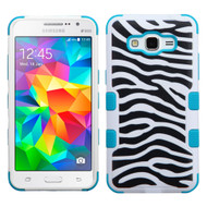 Military Grade Certified TUFF Image Hybrid Case for Samsung Galaxy Grand Prime - Zebra Teal