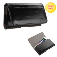 Genuine Leather Magnetic Holster Pouch Case - Black