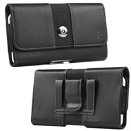 Leather Nylon Holster Hip Pouch Case - Black