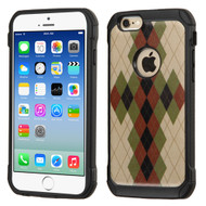 Tough Anti-Shock Hybrid Case for iPhone 6 / 6S - Vintage Argyle