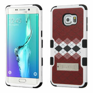 Military Grade Certified TUFF Image Hybrid Kickstand Case for Samsung Galaxy S6 Edge Plus - Modern Argyle