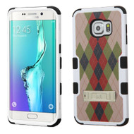 Military Grade Certified TUFF Image Hybrid Kickstand Case for Samsung Galaxy S6 Edge Plus - Vintage Argyle