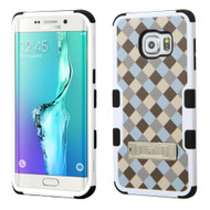 Military Grade Certified TUFF Image Hybrid Kickstand Case for Samsung Galaxy S6 Edge Plus - Chocolate Cool Checker