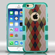 Military Grade Certified TUFF Merge Graphic Hybrid Case for iPhone 6 / 6S - Vintage Argyle