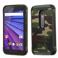 Tough Anti-Shock Hybrid Case for Motorola Moto G 3rd Generation - Camouflage