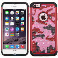 TotalDefense Diamond Hybrid Case for iPhone 6 Plus / 6S Plus - Camouflage Red