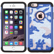 TotalDefense Diamond Hybrid Case for iPhone 6 Plus / 6S Plus - Camouflage Blue